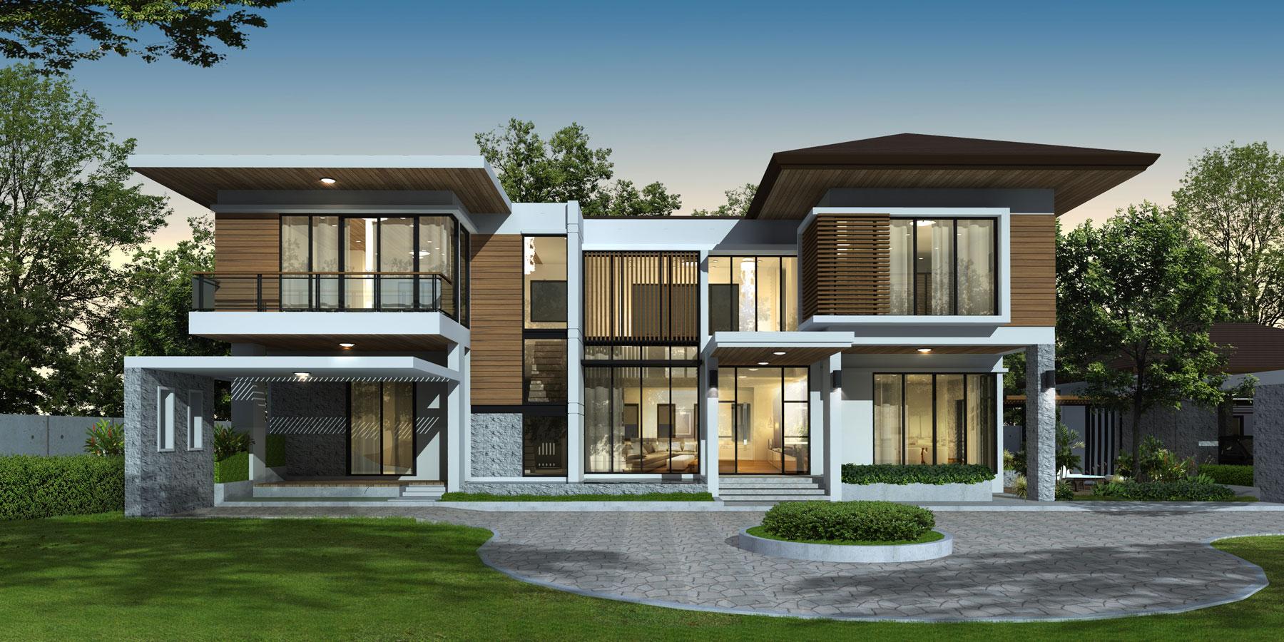 modern-house-dusk